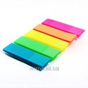 Стикер-закладка, 5 цветов по 25 пластиковых листиков, 12 х 45 мм, economix E20945 фото