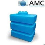 Бак пластиковый 1000 литров прямоугольный с крышкой
