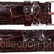 Ремешок для часов из кожи крокодила ALWS 01 Brown фото