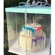 Коробка для 2-х ярусного торта 32х32 h-40см фото