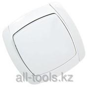 Выключатель Светозар City Light проходной одноклавишный в сборе, белый, 10А/~250В Код:SV-54237-W фото