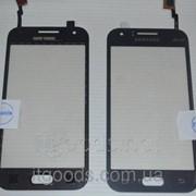 Оригинальный тачскрин сенсор (сенсорное стекло) Samsung Galaxy J1 Duos SM-J100 J100F J100H (черный самоклейка) фото