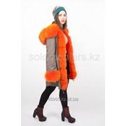 Зимная женская меховая куртка-парка фото