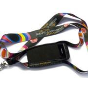 Шнурки, ланъярды, лента с нанесением логотипа методом сублимации фото