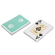 """Карты """"Fournier 2818 Casino Europe"""",100% пластик, зеленая рубашка фото"""