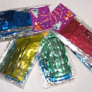 Новогодний дождик, в комплекте упаковано 5 шт. Длина 150см. фото
