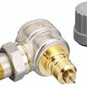 Радиаторный терморегулятор угловой, никелированный 25 Арт. 013G0016 фото
