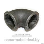 Угольник Ду50 черный чугунный фото