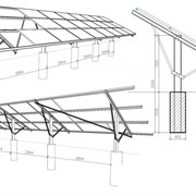 Производство креплений для монтажа солнечных модулей фото