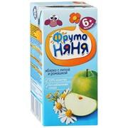 Фрутоняня сок яблочный с экстрактом ромашки и липы неосветленный (с 6 мес) 0,2л фото