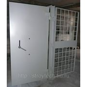 Дверь решетчатая из арматуры диам.16 мм ячейки 150х150 мм фото