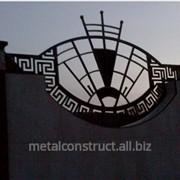 Забор кованый для коттеджа №6 фото