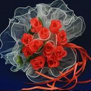 Букет невесты 1, красный фото
