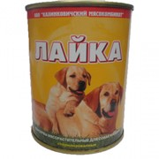 Консервы для животных Лайка ТУ РБ 100098867.110-2000 фото