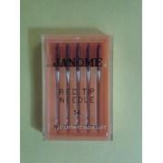 Иглы для бытовых машинJanome для вышивания 1уп - 5 игл НА х 1 фото