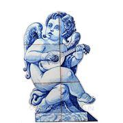 Керамические панно ангел играет на лютне- anj-2 фото