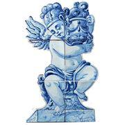 Керамические панно ангел с вазой правый-anj-5 фото