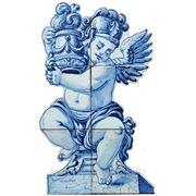 Керамические панно ангел с вазой левый -anj-6 фото