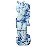 Керамические панно ангел идущий -anj-8 фото