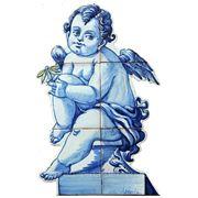 Керамические панно ангел с ромашкой -anj-11 фото