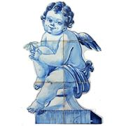 Керамические панно ангел с ромашкой- anj-9 фото