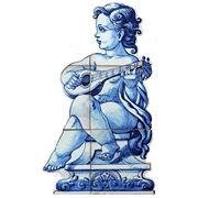 Керамические панно ангел с лютней-anj-10 фото