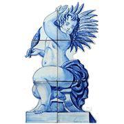 Керамические панно ангел держит в руке перо -anj-15 фото