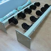 Сушилка для белья наружная с роликами. фото