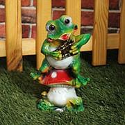 Фигура Лягушка с флейтой фото
