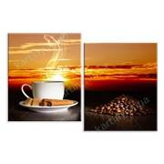 Картина Кофе и закат фото