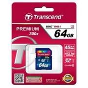 Карта памяти Transcend Premium SDXC 64GB Class 10 UHS-I R45MB/s (TS64GSDU1) фото