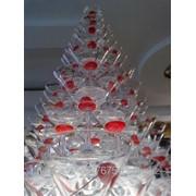 Пирамида из бокалов шампанского в Алматы фото