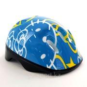 Шлем защитный, детский, голубой фото