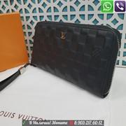 Мужской кошелек Lpuis Vuitton Zippy Портмоне черное фото