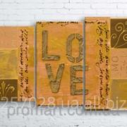 Модульна картина на полотні Кохання код КМ100160-048 фото