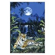 Картина-мозаика стразами Тигр под луной 60х88 см фото