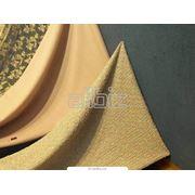 Текстиль и кожа. Ткани из натуральных и искусственных волокон. Ткани синтетические. Полотна текстильные. фото
