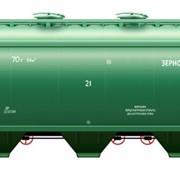 Вагон-хоппер для перевозки зерна модели 19-9863 фото