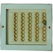 Вентиляционная решетка деревянная малая резная с задвижкой фото