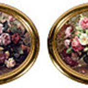 Картины Цветы (комплект из 2-х шт.) 35х29см. арт.L47-6144 фото