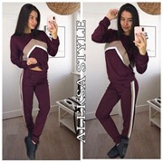 Женский стильный спортивный костюм, в расцветках. Г-6-0718 фото