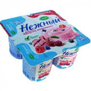 Йогуртовый продукт НЕЖНЫЙ 1,2% со вкусом ягодное мороженое, 100г фото