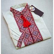 Стильная вышитая мужская рубашка для работы (Б-07) фото