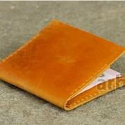 Миниатюрный кошелек W018 Рыжий Кожа Украина фото