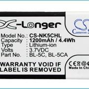Аккумулятор BL-5C для Nokia 6300 УСИЛЕННЫЙ 1200 mAh фото