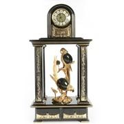 Часы интерьерные каминные Птицы фото
