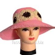 Шляпа льняная ромашки 23075 фото