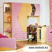 Детская комната Эколь Розовый Лакированная с Кровaть ю фото