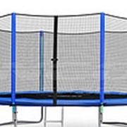 Батут NeoSport 404 см. с внешней сеткой и лесенкой фото
