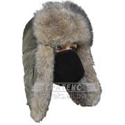 Шапка ушанка Евро волк хаки фото